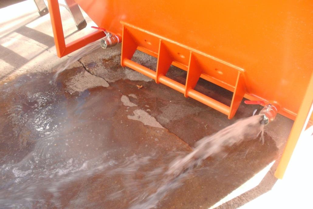 edg-Entwässerungsmulde   Grauwasserablauf